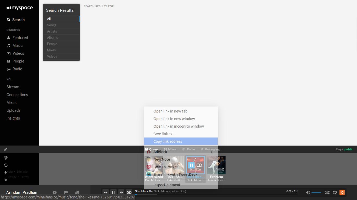 youtube...myspace